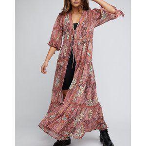 NWT Free People Grasslands Kimono / Rose Combo